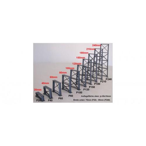 HA17080 P20 Gauge H0 Bridge pier, 20mm, gray