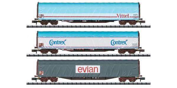 "T15375 ""Mineral Water Transport"" Sliding Tarp Car Set"
