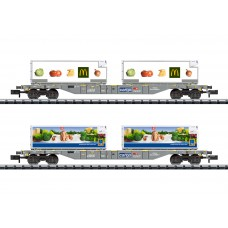 "T15488  ""Foodstuffs Refrigerated Transport"" Container Transport Car Set"