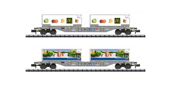 "T15488  ""Foodstuffs Refrigerated Transport"" Container Transport Car Set"