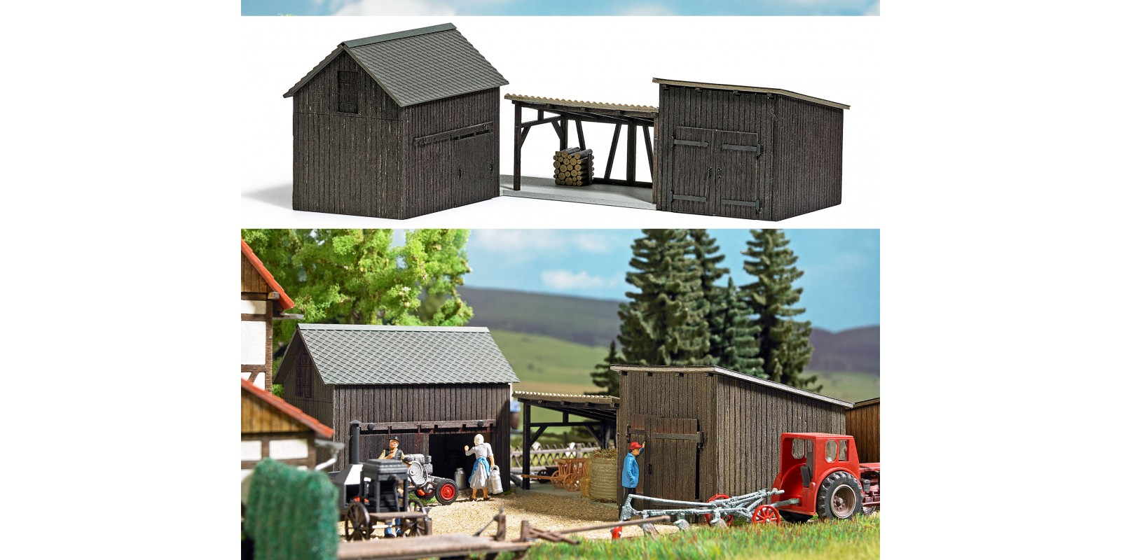 BU1595 Wooden Sheds and Shelter