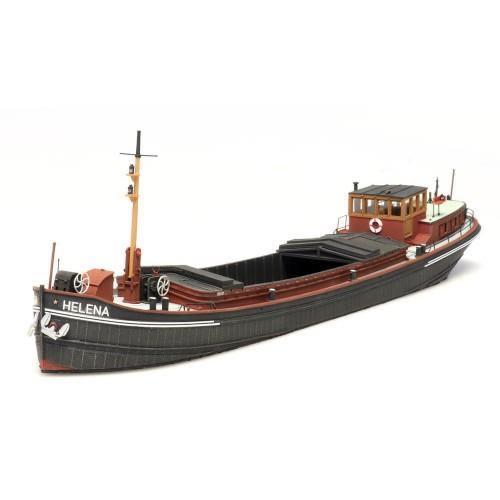 """AR387.341 Gauge H0 150 ton Rhine River barge """"Helena""""; finished model"""
