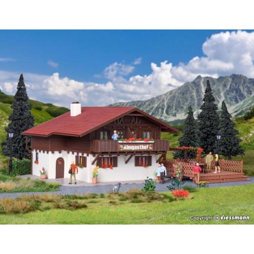 VO43960 Alp Inn with wooden terrace