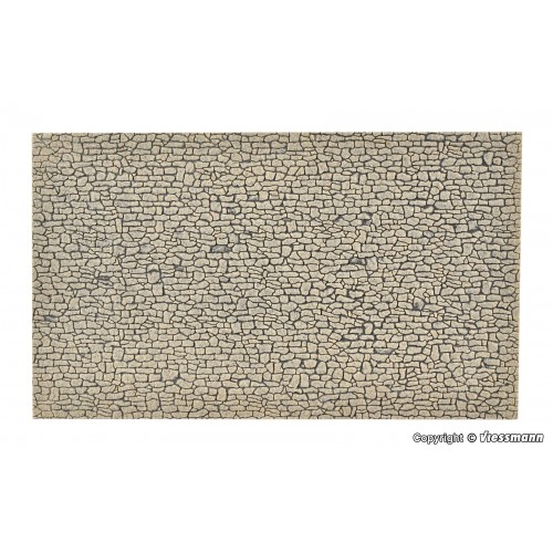 VO48224 Wall plate crushed stone of Stone Art, L 27,5 x W 16 cm