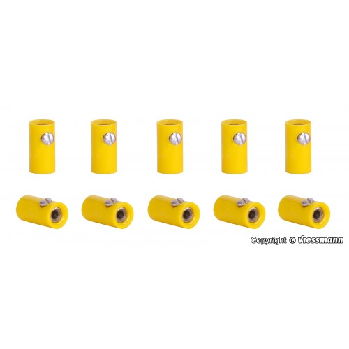 VI6879 Sockets yellow, 10 pieces