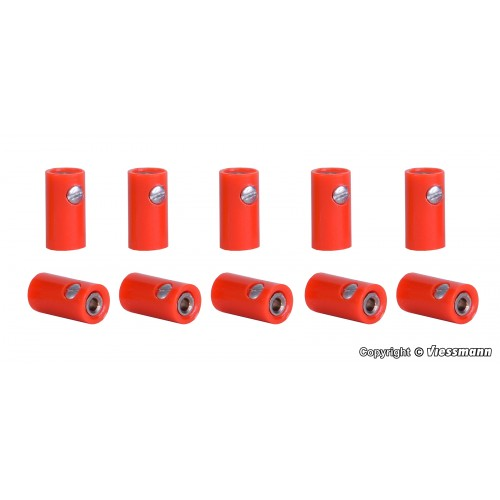 VI6880 Sockets red, 10 pieces