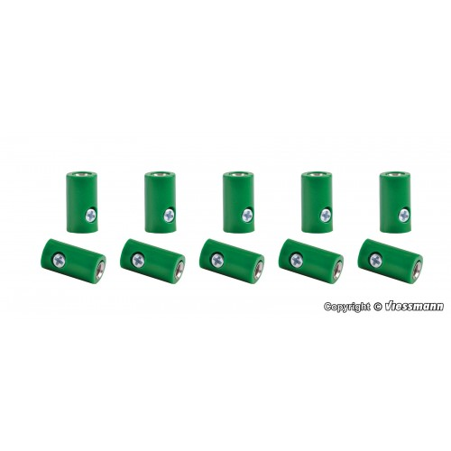 VI6881 Sockets green, 10 pieces