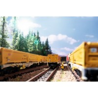 CONTAINER FLAT CAR SET MINITRIX 15075