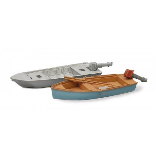 AR387.10 Fishing boats modern (2x), 1:87 resin ready made, painted