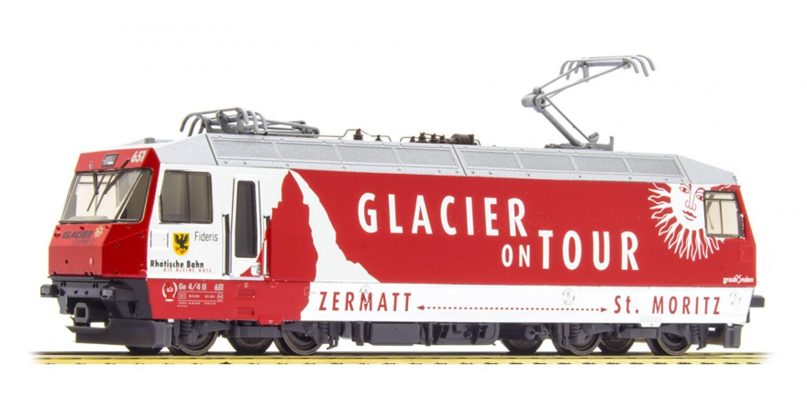 BM1559161 RhB Ge 4/4 III 651 'Glacier on Tour' H0 Normalspur 3L-WS digital