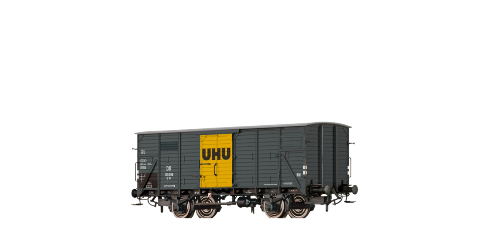 """BR49739 Covered Freight Car G10 """"UHU"""" DB"""