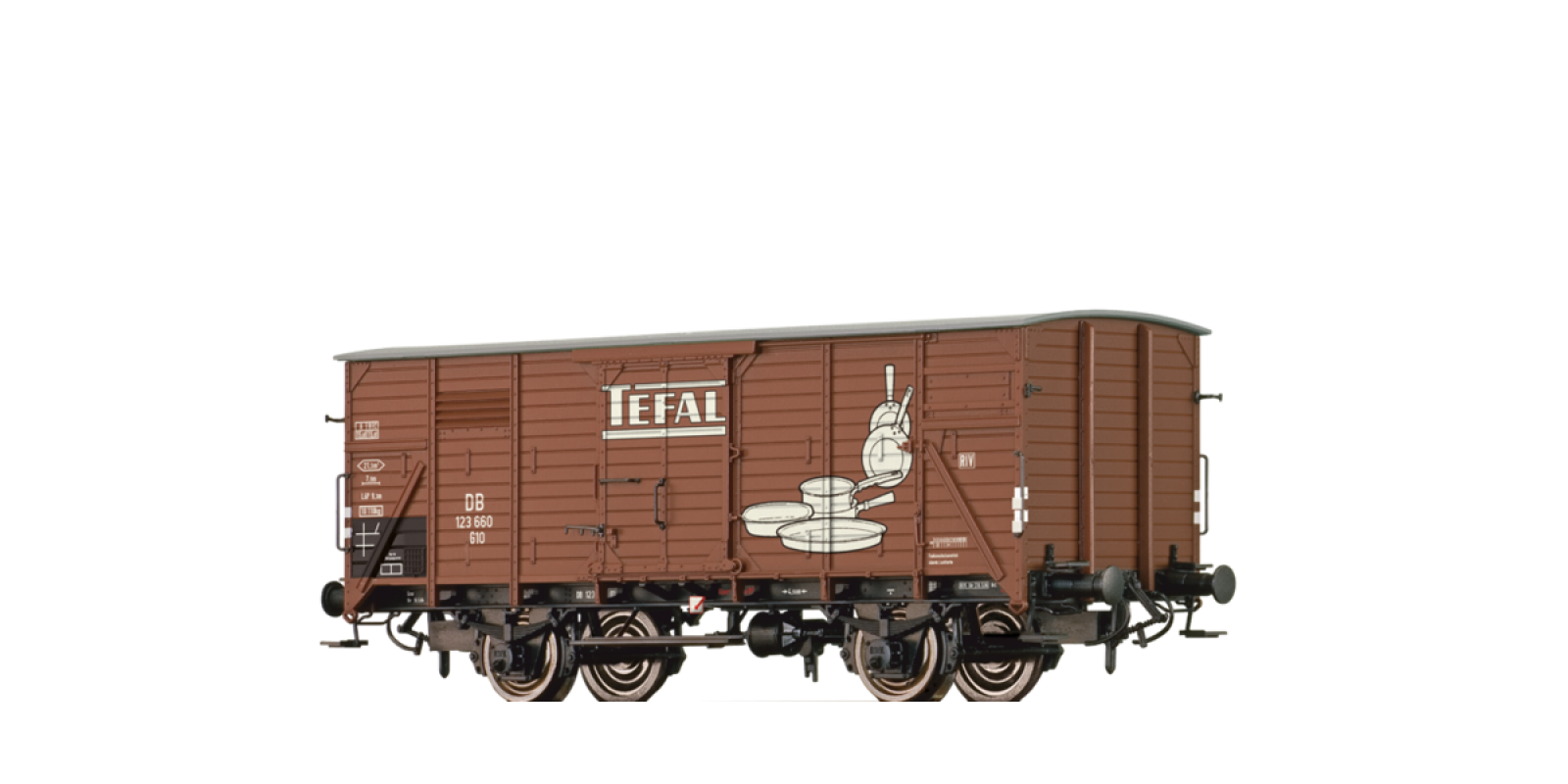 """BR49755 Covered Freight Car G10 """"Tefal"""" DB"""
