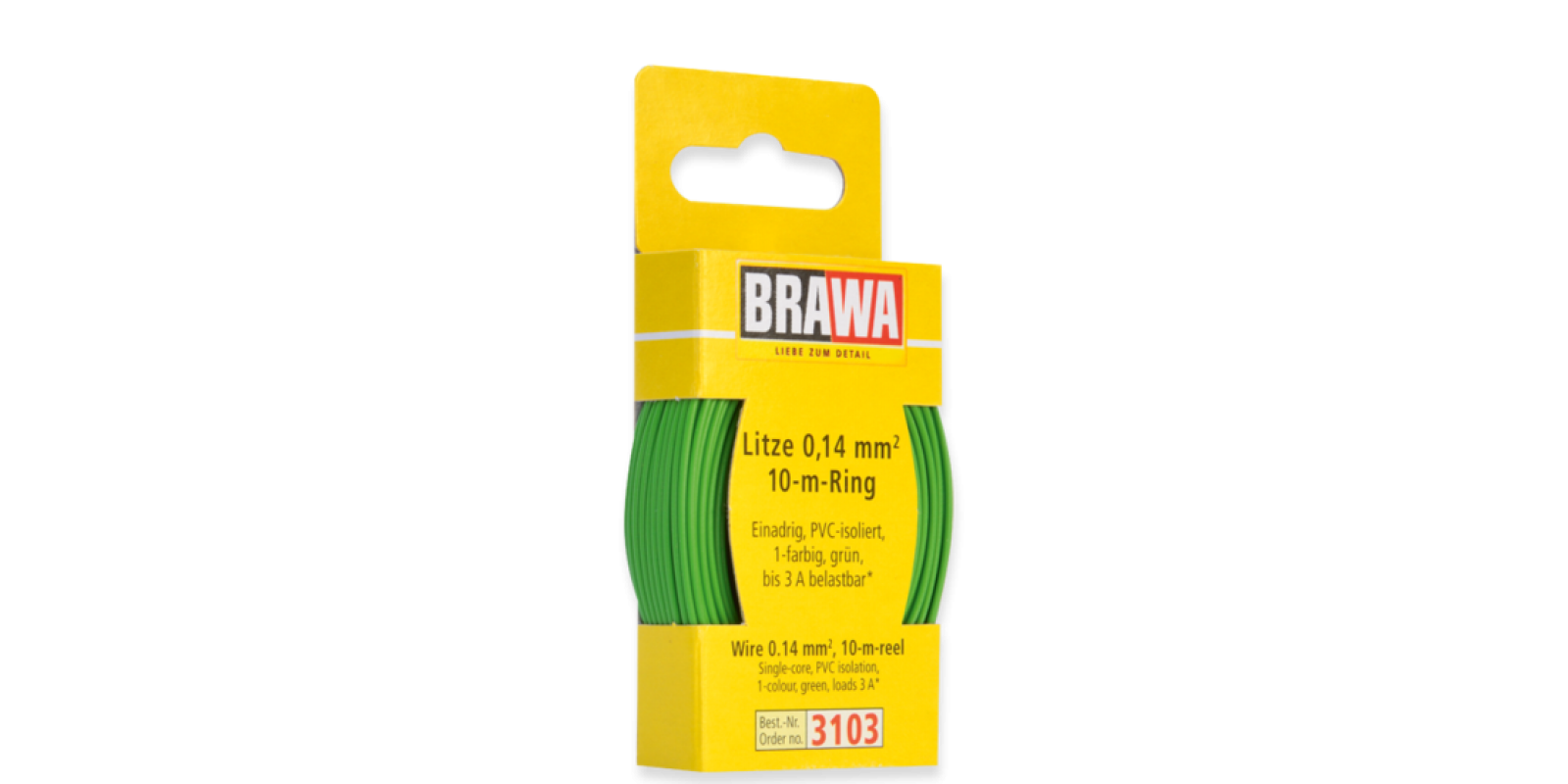 BR3103 WIRE 0.14 MM², GREEN