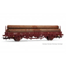 ET1658 Transfesa/RENFE, 2-axle wagon loaded with logs, period IV/V