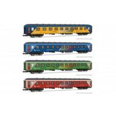 "ET18043 RENFE, ""Chartren"" original train, 4-unit pack, Z12t-15200 coachs, period IV"