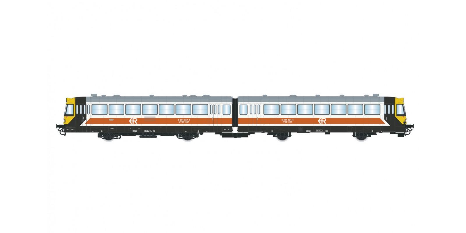 "ET2002D RENFE, 2-unit diesel railcar ""Ferrobus"", 591 series, ""Regionales"" livery, period V with DCC decoder"