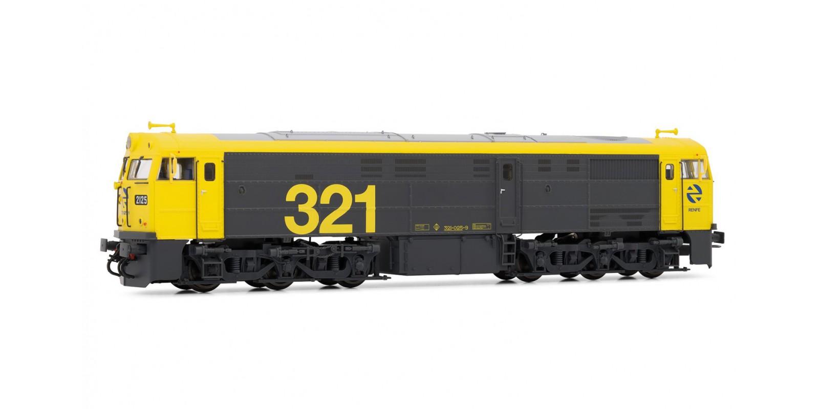 ET3119 Locomotora 321.025 Amarilla-gris