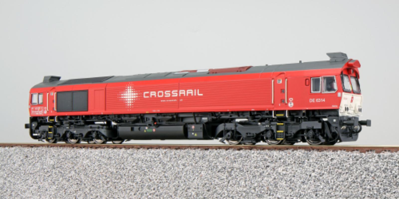 ES31274Diesel loco, Crossrail DE 6314, red, Ep VI, Sound+Smoke, DC/AC