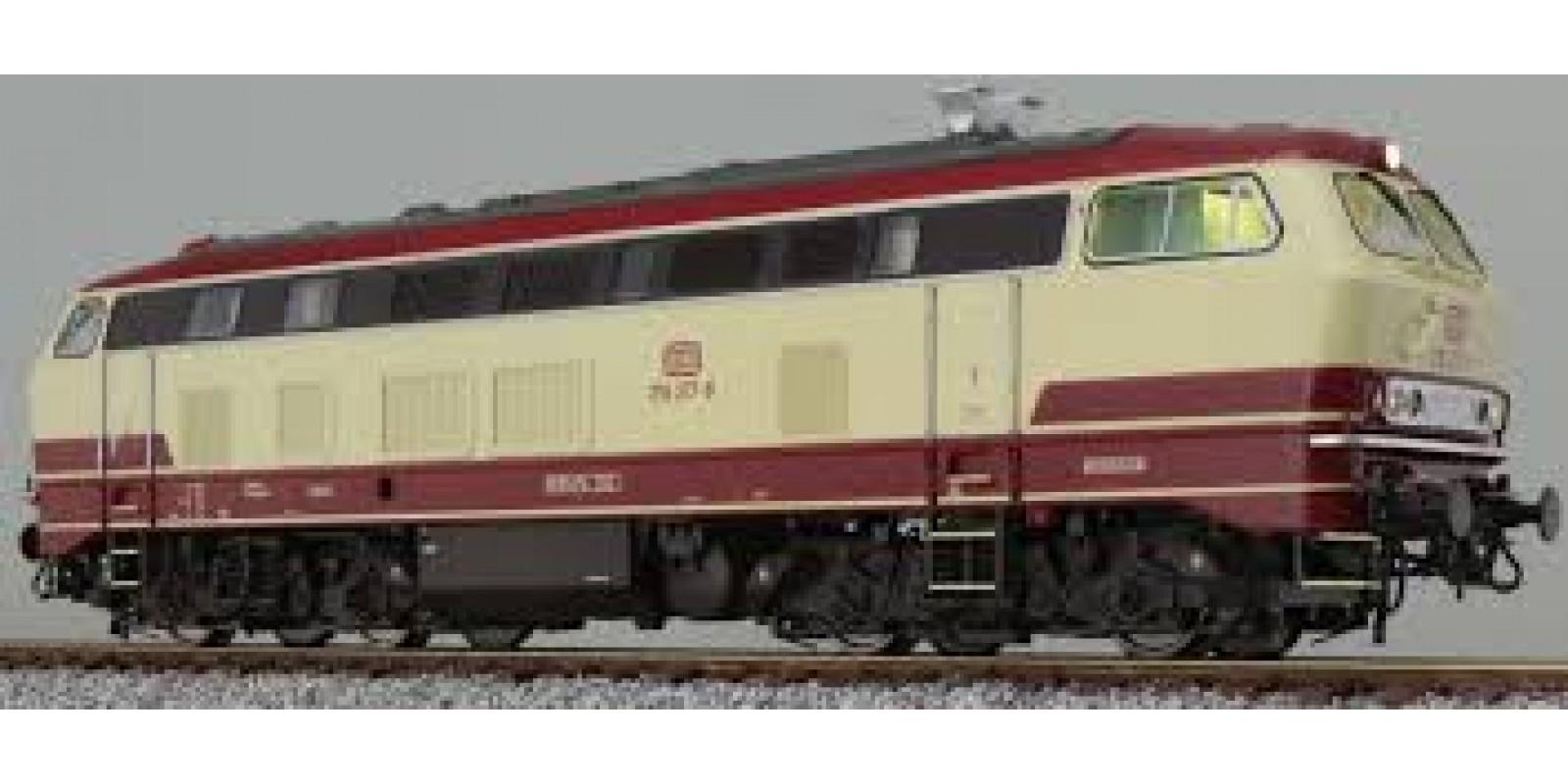 ES31015 Diesel locomotive, H0, BR 218, 218 217 DB, TEE paint, Era IV, prototype condition around 1989, Sound + Rauch, DC / AC