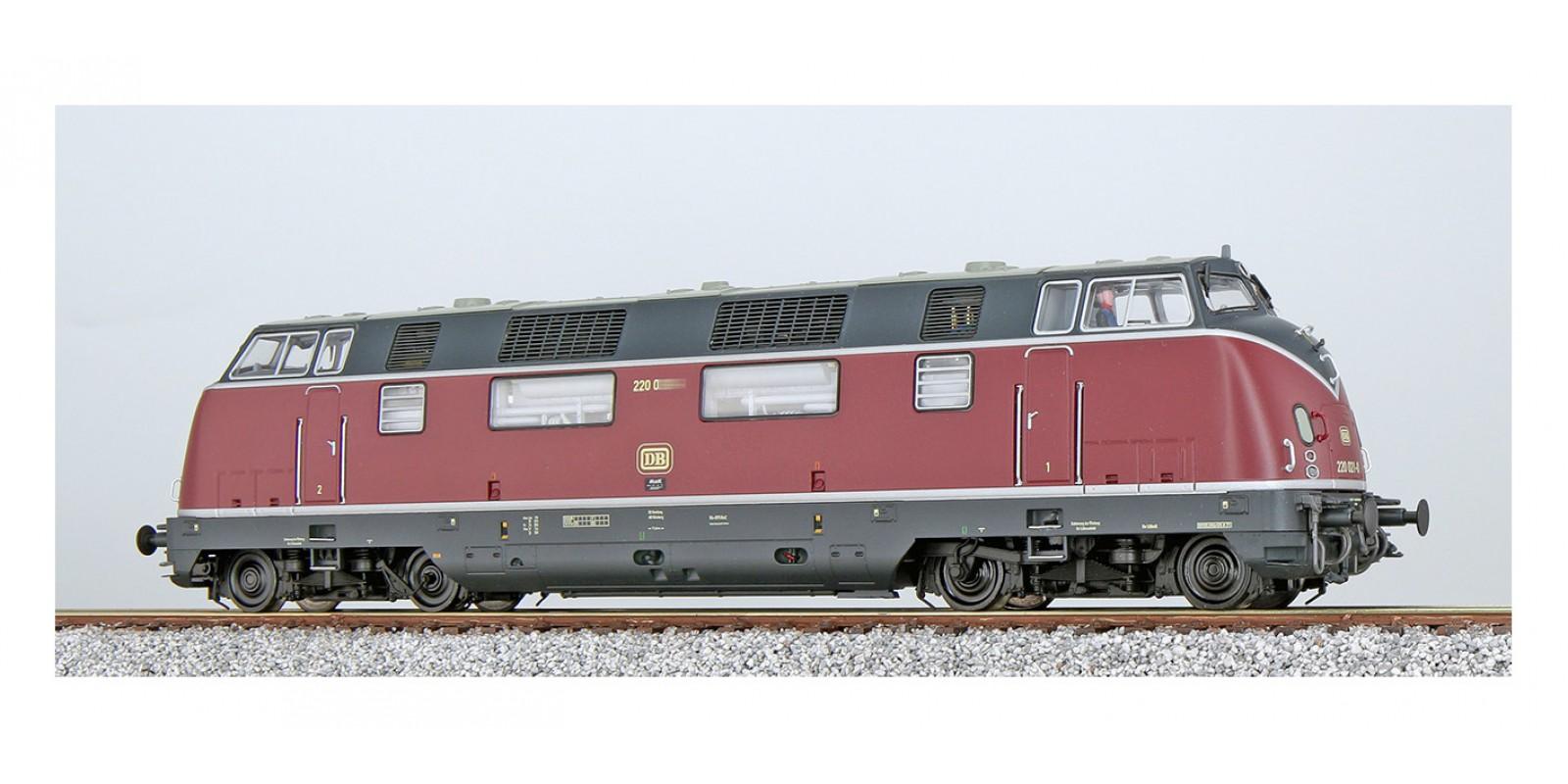 ES31337 Diesel loco, V200 019 of the DB, oldred, Era IV, Sound+Smoke, DC/AC