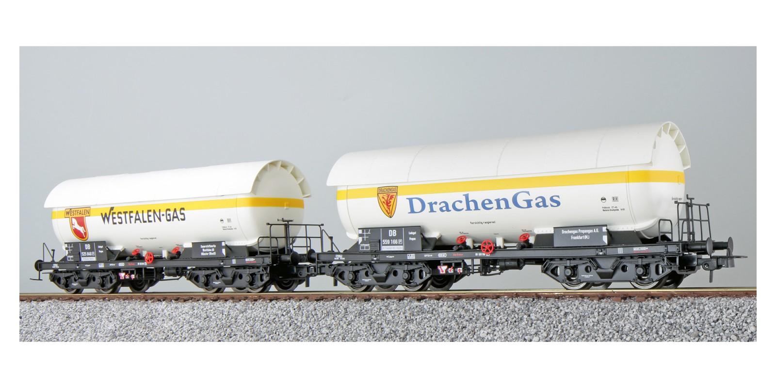 ES36536 Gas tank car set, ZAG 620 of the DB, epoch III