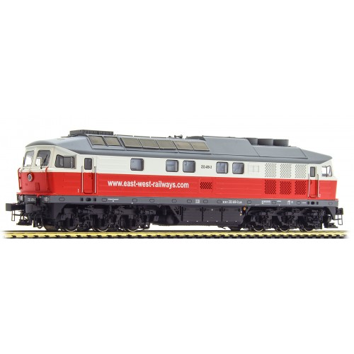 ES31351 Diesel Loc 232 409, East-West, red-white, Era VI, Sound+Smoke, DC/AC