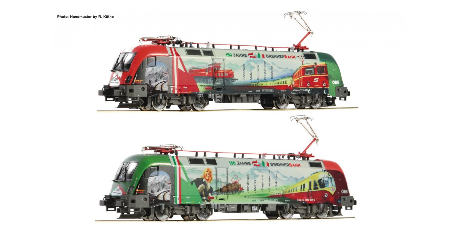"FL731189 - Electric loco 1116 159-5 ""Brennerbahn Jubiläum"", ÖBB, DC with sound"