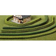 HE1187, 3 strips flexible hedging, dark green, 14 mm, each 50 cm.