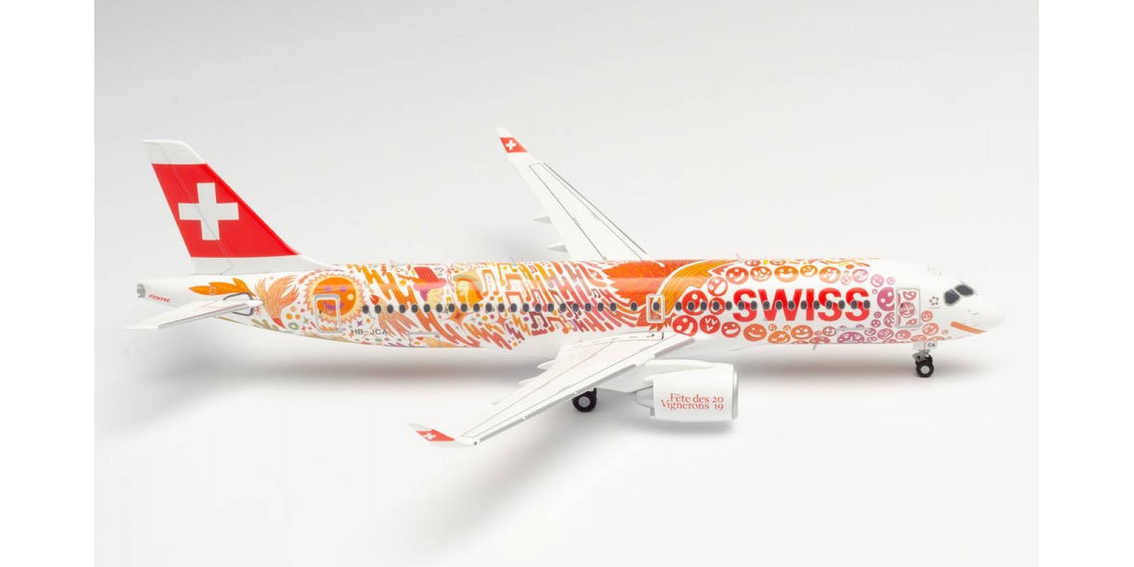 "HR559935 SWISS INTERNATIONAL AIR LINES AIRBUS A220-300 ""FÊTE DES VIGNERONS"""