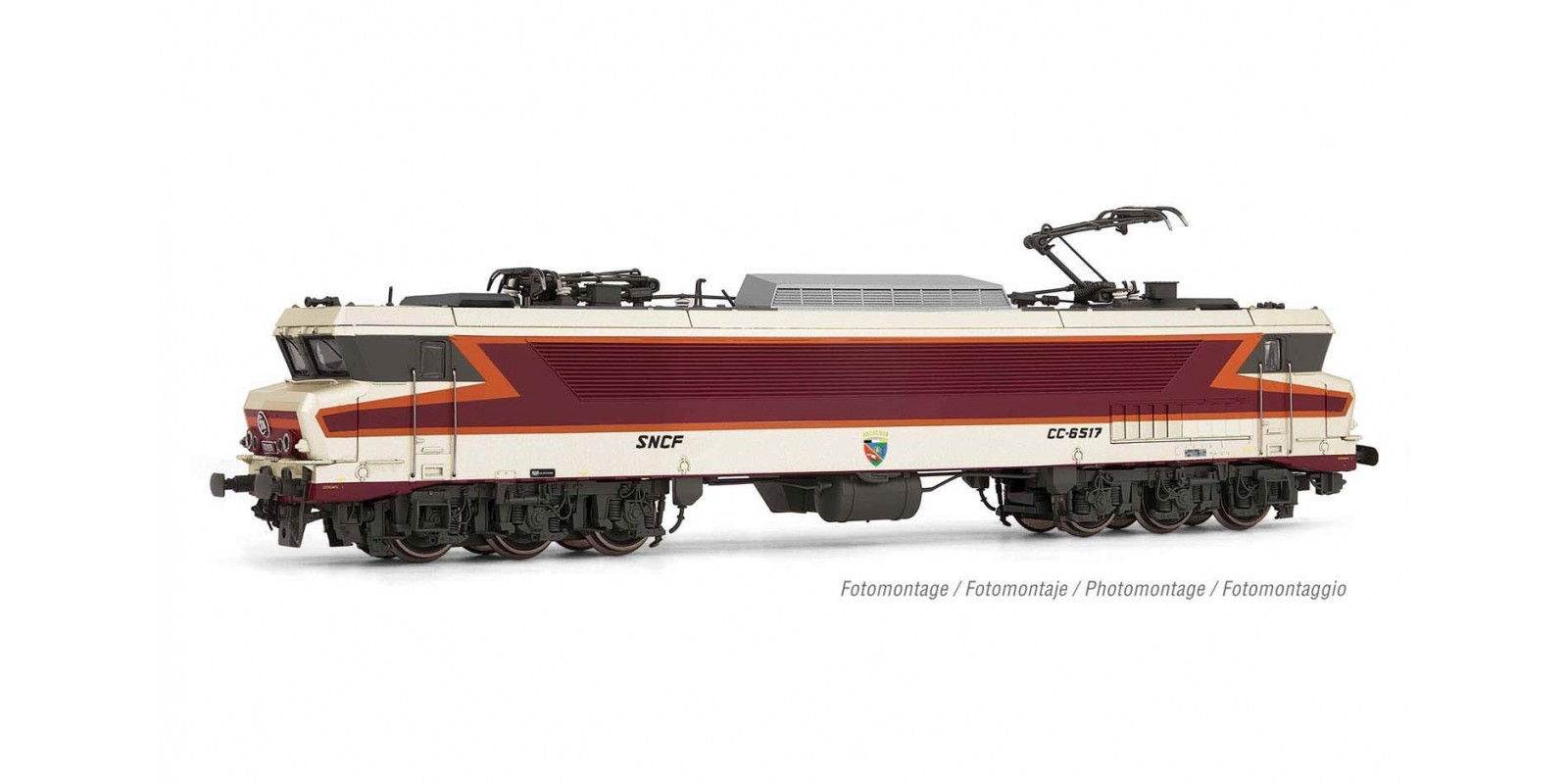 """JO2372S SNCF, electric locomotive class CC 6517 in """"Betón rouge"""" livery, """"Beffara"""" logo, period IV, with DCC sound decoder"""