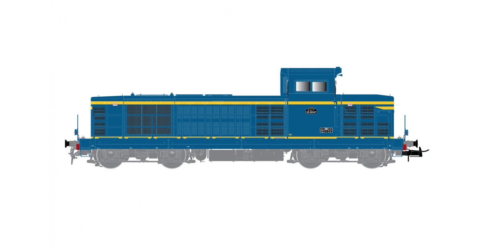 JO2392S SNCF, BB 66000 diesel locomotive, 2nd subseries, blue and yellow livery, period III, with DCC sound decoder