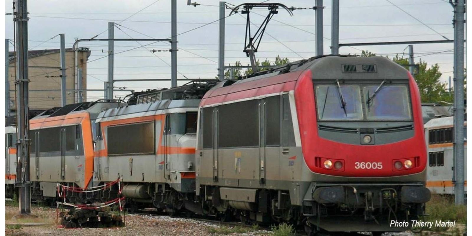 "JO2397 SNCF, electric locomotive BB 36005, red livery ""Charleroi / Hirson"", period V"