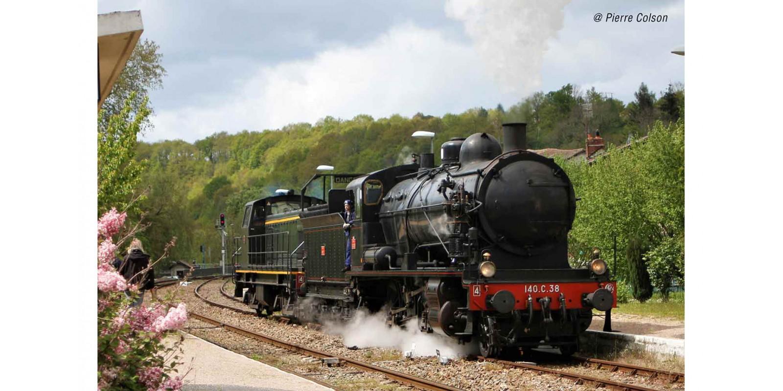 JO2406S SNCF, 140 C 38, tender 18 B 22 (Est), black, red lining, golden boiler rings DCC Sound