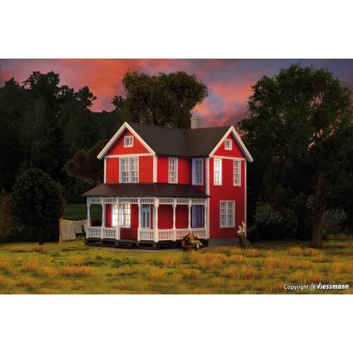 KI38840 H0 Swedish house, red