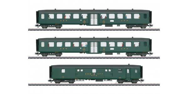 "43385 ""D96 Isar-Rhône"" Express Train Passenger Car Set 2"
