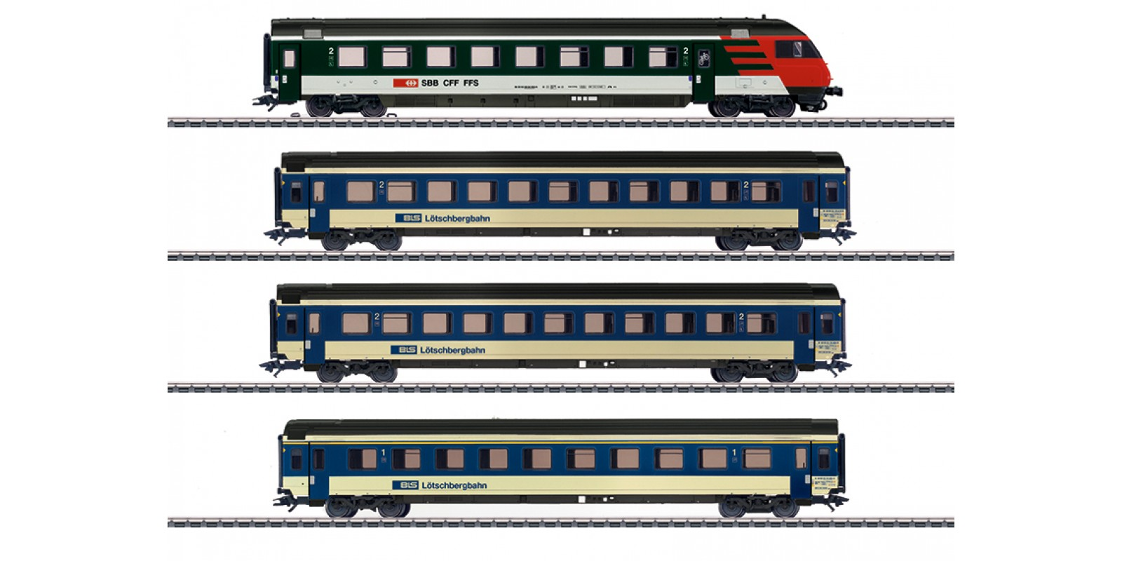42175 Mark IV Express Train Passenger Car Set