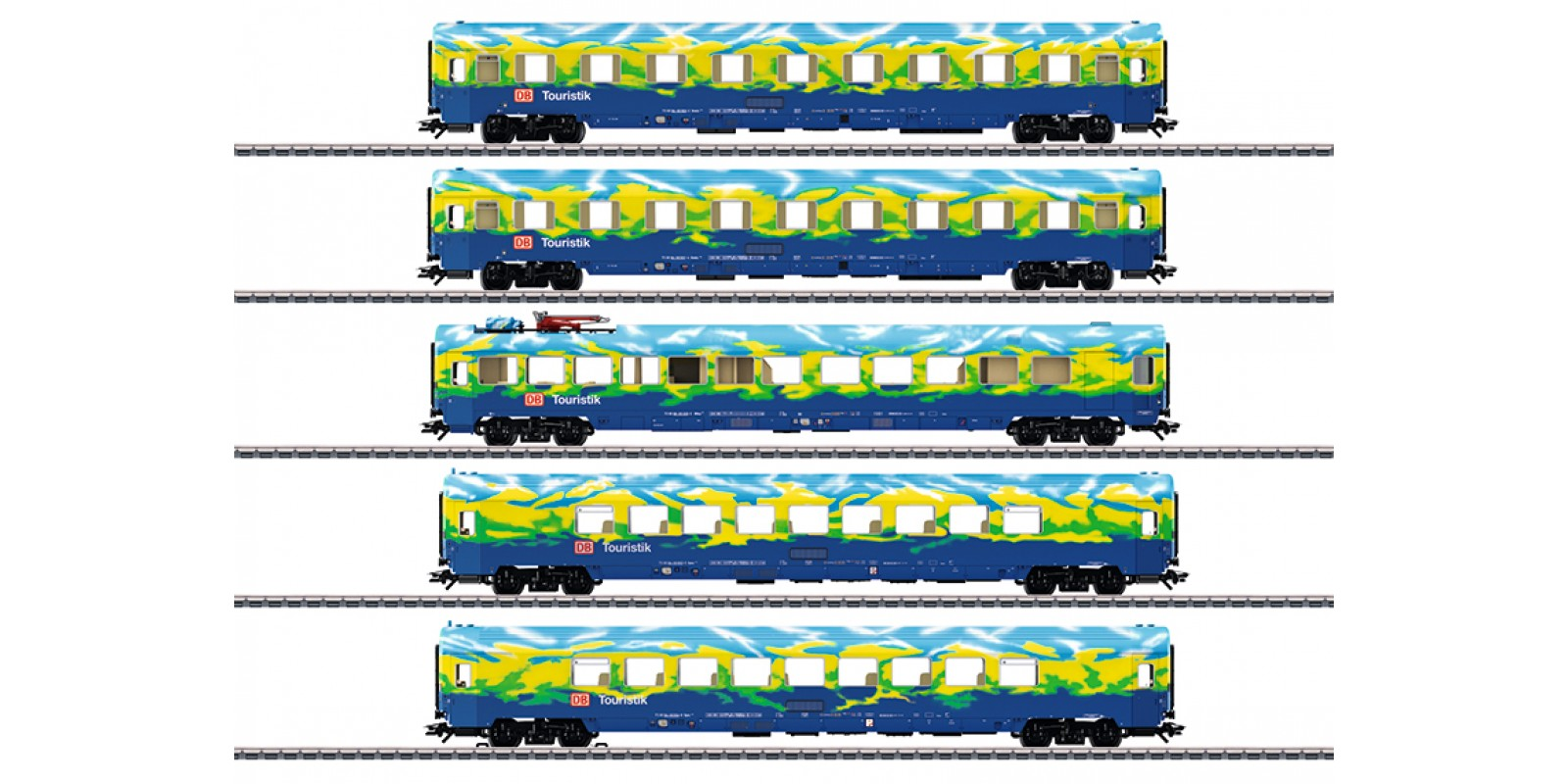 """43878 """"Tourism Train"""" Passenger Car Set"""