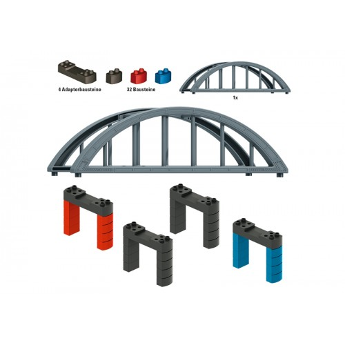 072218 Märklin my world - Elevated Railroad Bridge Building Block Set