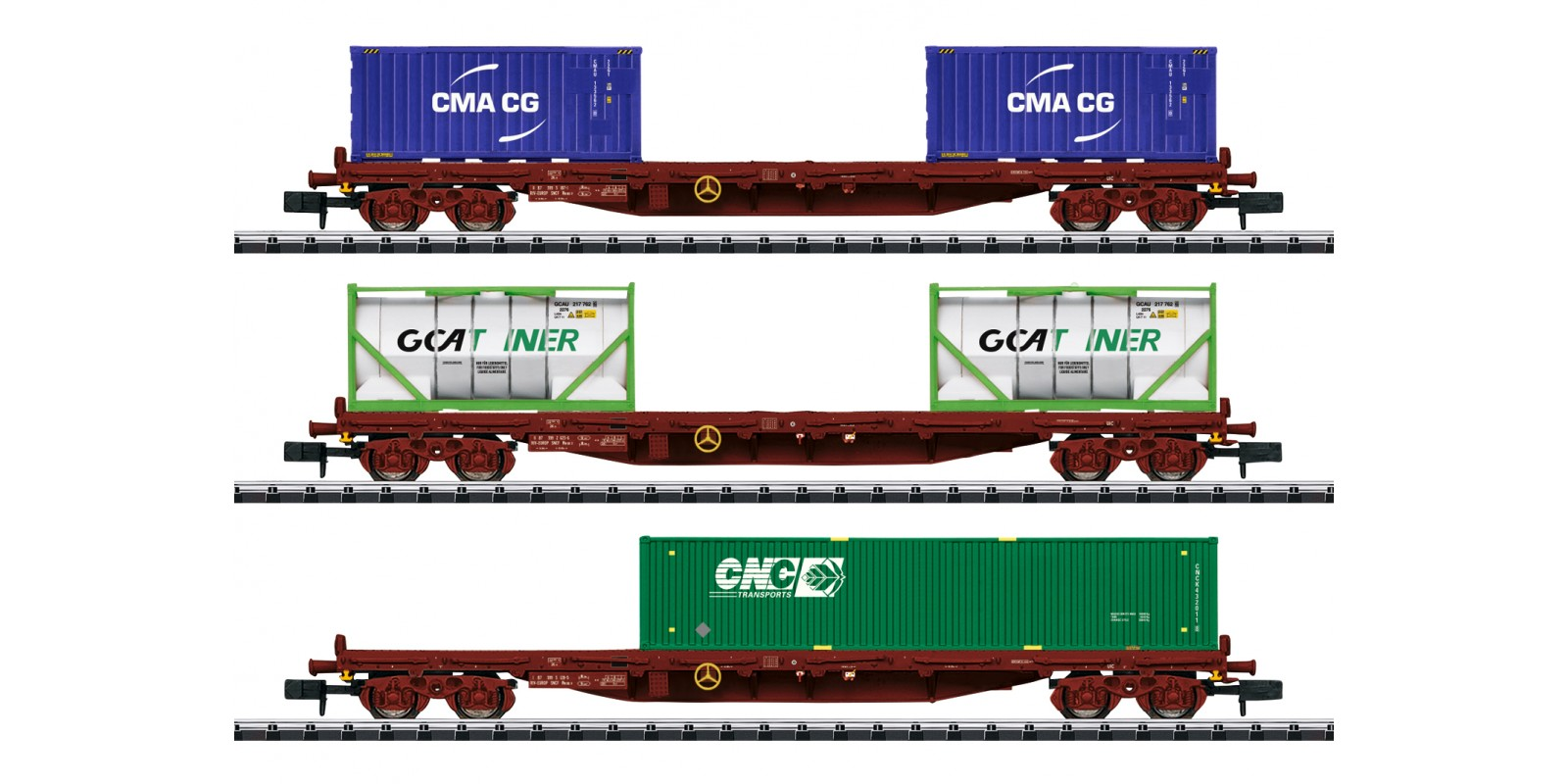 T15072 Container Flat Car Set