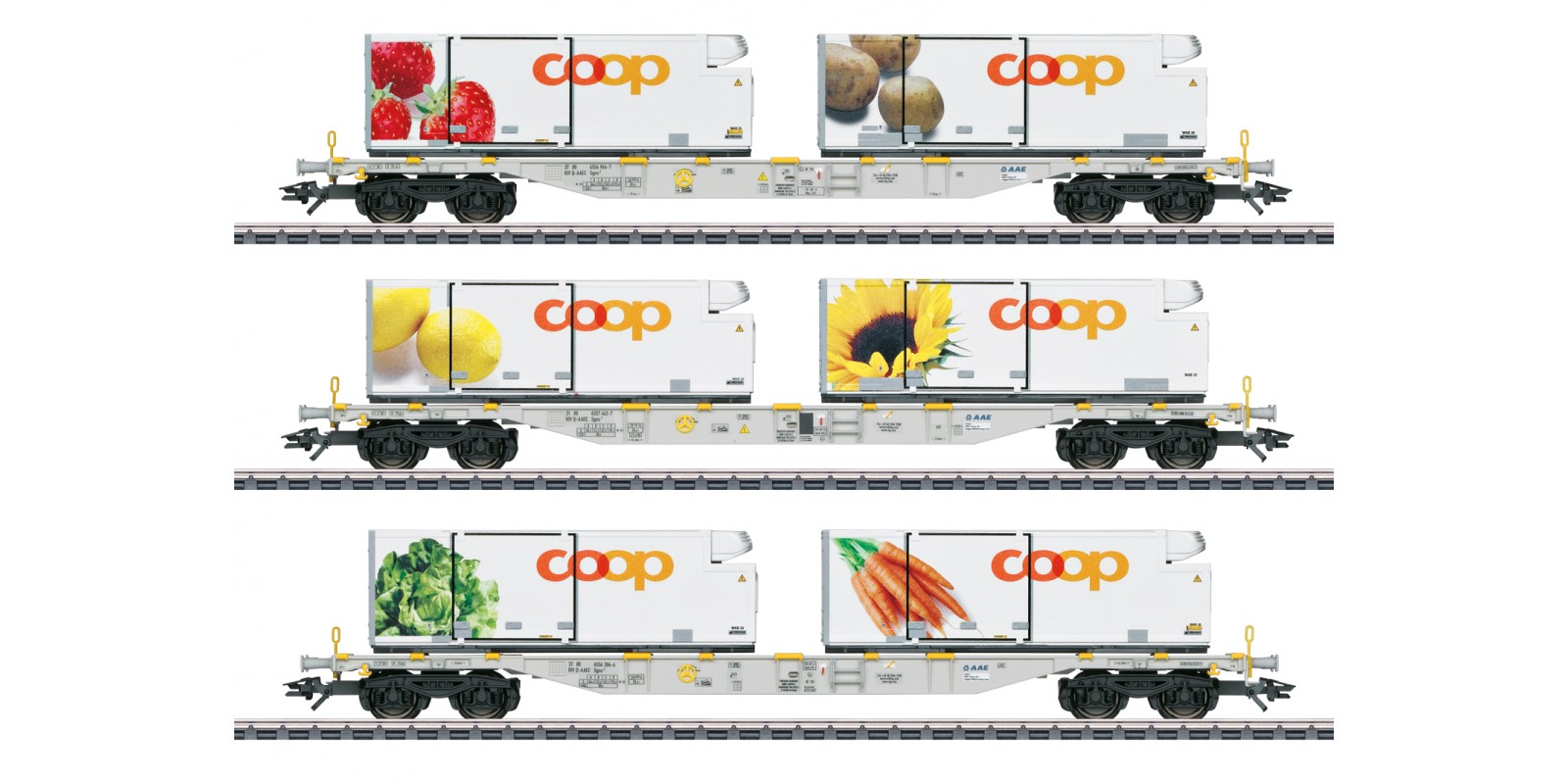 47461 Coop Container Flat Car Set