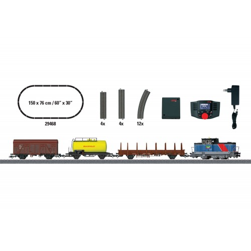 "29468 ""Era VI Swedish Freight Train"" Digital Starter Set. 230 Volts."