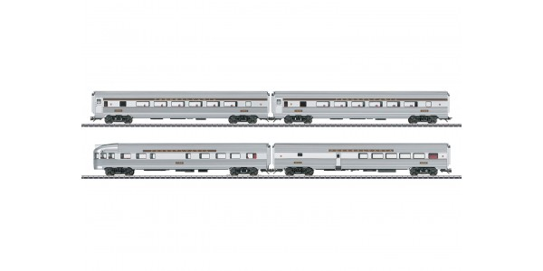 43616 Four Streamliner Passenger Cars