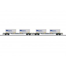 47096 Two Type Sgnss Container Flat Cars with Interchangeable Transport Units