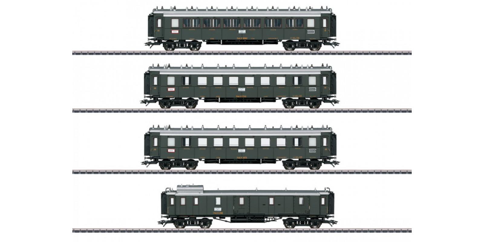 "41354 ""Palatine Railroad"" Express Train Passenger Car Set"