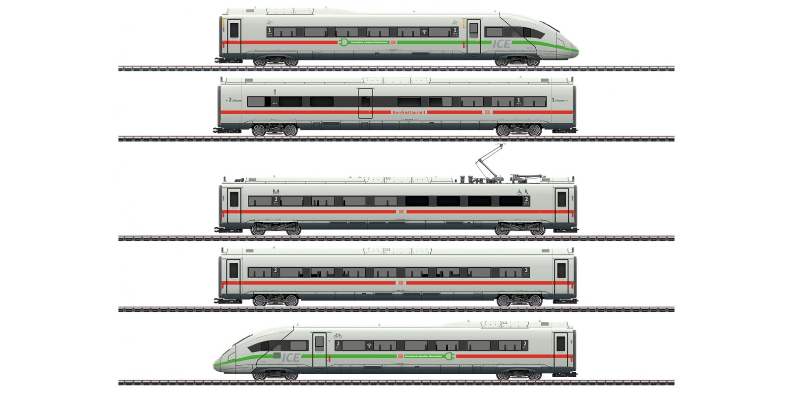 39716 Class 412/812 ICE 4 Powered Railcar Train with a Green Stripe