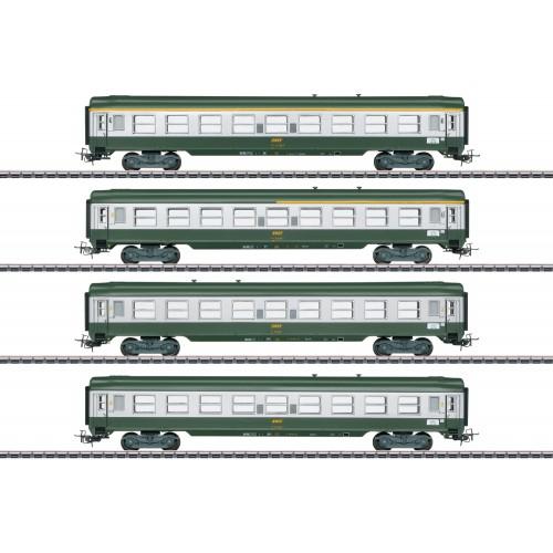 "40691 French ""Tin-Plate"" Express Train Passenger Car Set"