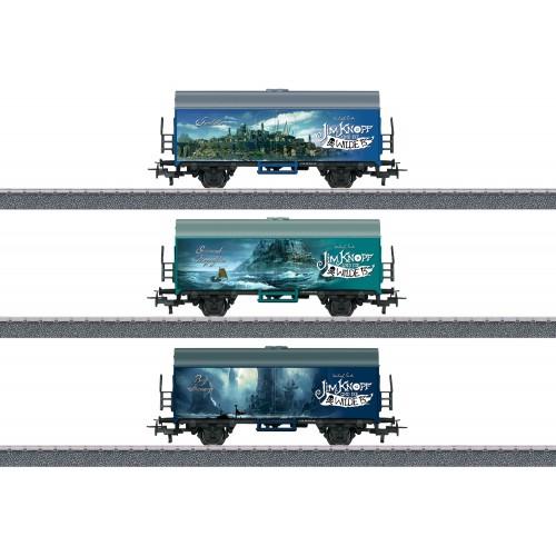 """44821 Märklin Start up – """"Different Lands of Jim Button"""" Freight Car Set"""