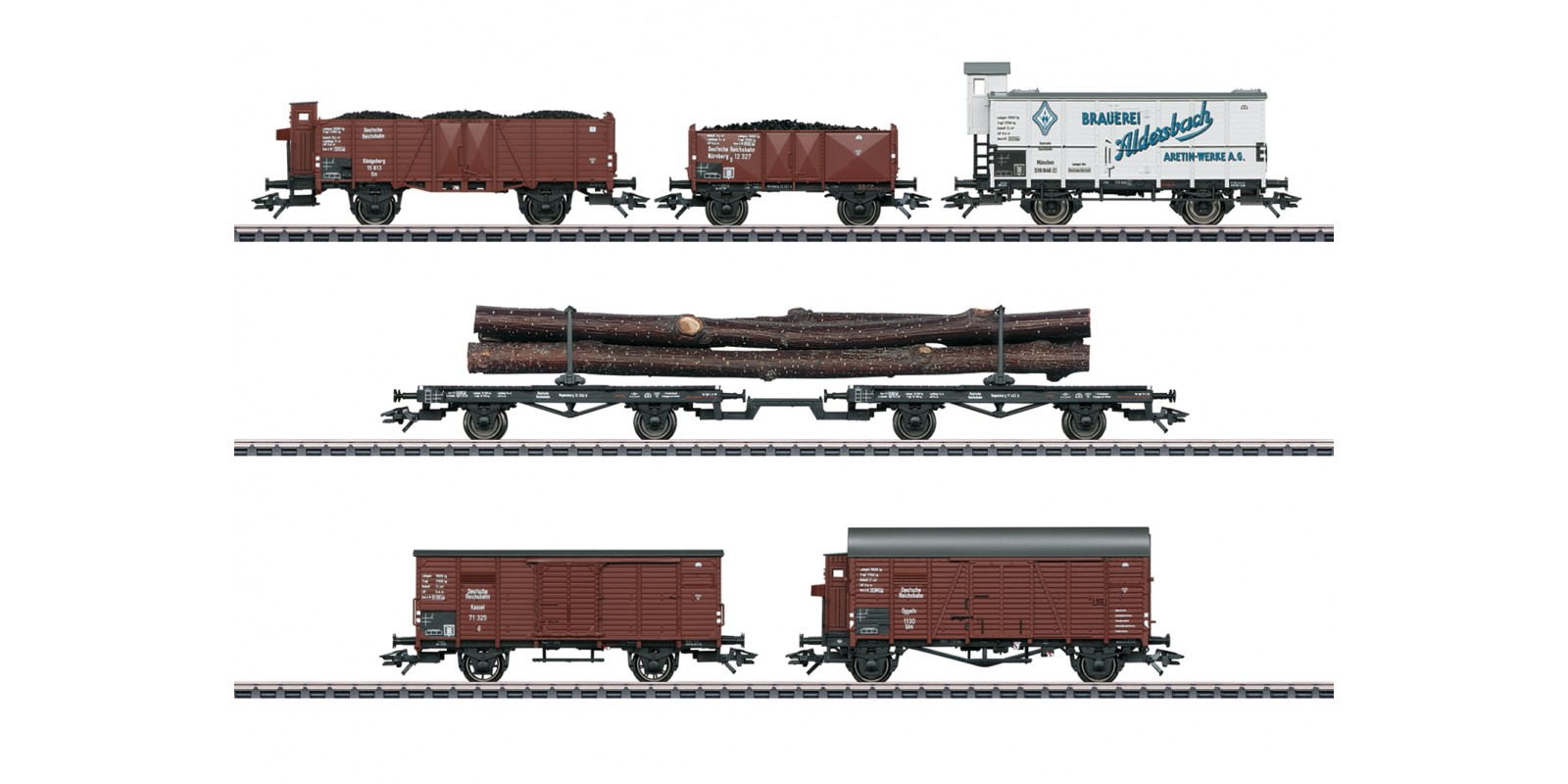46017 Freight Car Set for the Class 95 Steam Locomotive