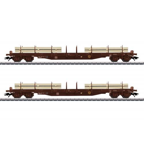 47150 Lumber Flat Car Set