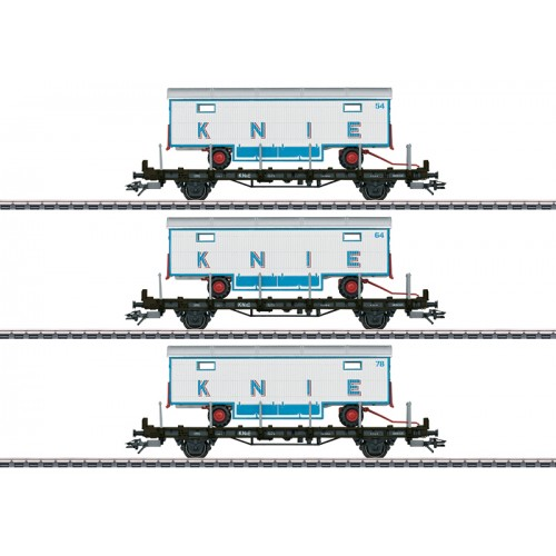 "45085 - ""100 Years of the Swiss National Circus Knie"" Flat Car Set"